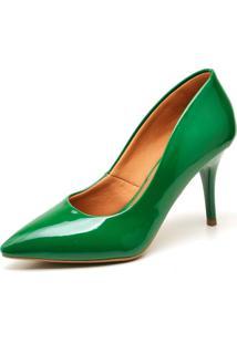 Scarpin Casual Ellas Online Salto Médio Verde