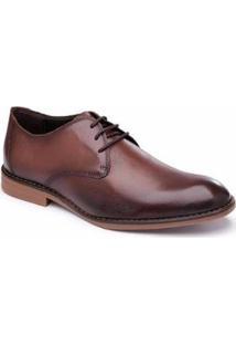 Sapato Social Em Couro Dexshoes Masculino - Masculino-Marrom