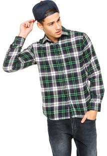 Camisa Ride Skateboard Flanela Mfl-24217 Verde