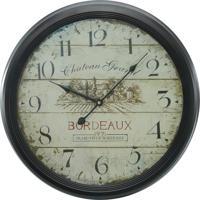 a2b95667d43 Relógio Kasa Ideia De Parede Bordeaux 62Cm