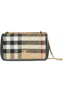 Burberry Small Lola Vintage Check Bag - Neutro