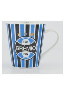 Caneca Porcelana Grêmio Branca