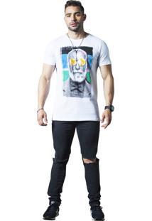 Camiseta Wolke Gola Careca Branca