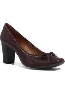 Sapato Jorge Bischoff Scarpin Laço Marrom