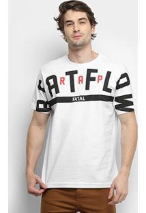 Camiseta Fatal Estampada Masculina - Masculino-Branco