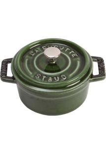 Caçarola Redonda Ferro Fundido 10 Cm Verde Basil Staub