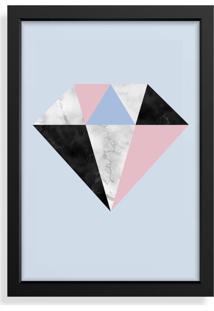 Quadro Decorativo Com Moldura Diamante Escandinavo Preto