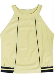 Blusa Decote Halter Neck Verde