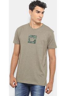 Camiseta Hang Loose Silk Camou Masculina - Masculino-Verde