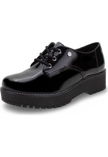 Sapato Feminino Oxford Via Marte - 207305 Verniz/Preto 33
