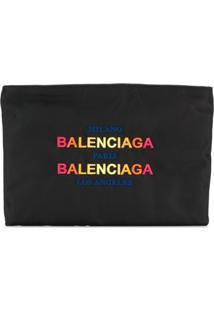 Balenciaga Clutch Com Logo - Preto