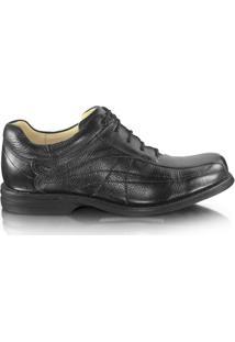Sapato Anatomic Gel 4560 Couro - Masculino-Preto