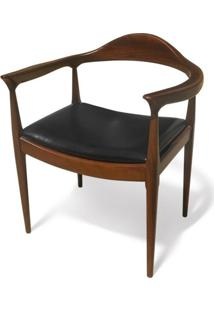 Cadeira The Chair Madeira Maciça Design By Hans Wegner