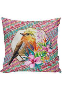 Capa De Almofada Ethnic Bird- Azul & Rosa Escuro- 45Stm Home