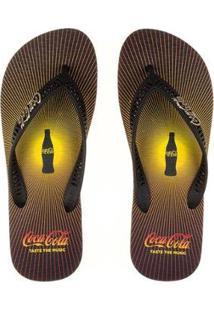 Chinelo Coca-Cola Sound Feminino - Feminino-Preto