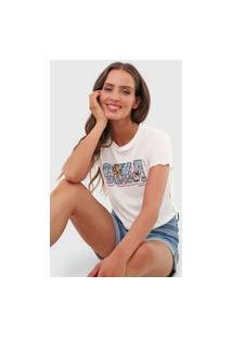 Camiseta Cropped Aeropostale Cuba Off-White