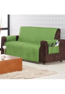 Protetor De Sofá Home 2 E 3 Lugares Verde Musgo Matelado Mais Duravel Com 2 Peças - Aquarela