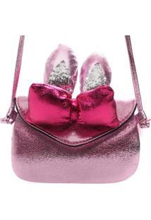 Mini Bolsa Birô Orelhinhas Feminina - Feminino-Pink