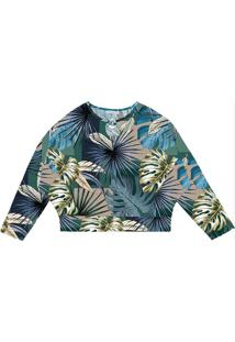 Blusa Feminina Estampada Endless Verde