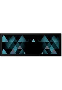 Quadro Adoraria Geométrico Azul Preto