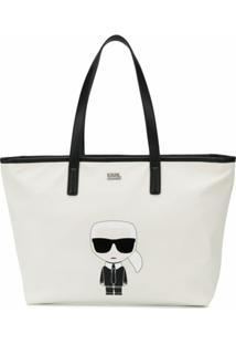 Karl Lagerfeld Bolsa Tote K/Ikonik - Branco