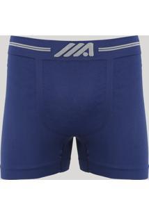 Cueca Boxer Masculina Sem Costura Ace Azul Marinho