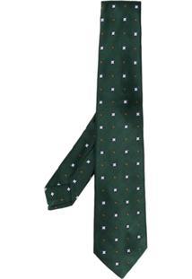 Kiton Gravata Com Padronagem - Verde