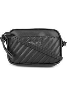 Bolsa Anacapri Mini Bag Eco Napa Like Matelassê Feminina - Feminino-Preto