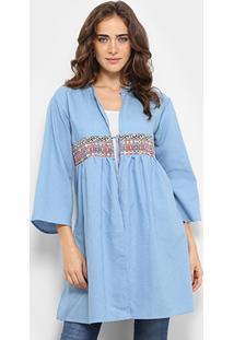 Blusa Acrobat Kimono Jeans Feminina - Feminino