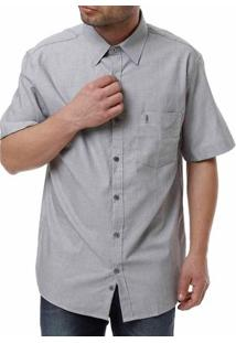 Camisa Manga Curta Masculina Cinza