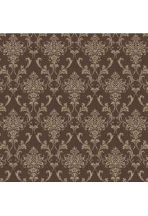 Papel De Parede Arabescos- Marrom & Dourado- 100X52Cshark Metais