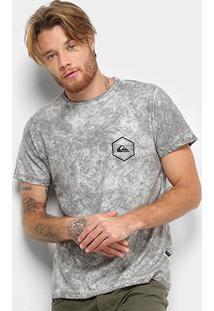 Camiseta Quiksilver Octo Dye Masculina - Masculino-Cinza+Preto