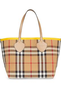 Burberry Bolsa Tote The Large Giant Color Block - Marrom