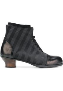 Munoz Vrandecic Ankle Boot Listrada - Preto