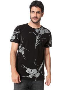 Camiseta Aramis Big Flower Preta