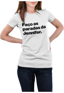 Camiseta Hunter O Nome Dela É Jennifer Branca