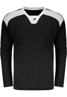 Camisa Placar Xavante Manga Longa Preta - Masculino