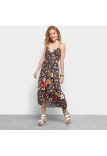 Vestido Midi Farm Estampado Dalila Feminino - Feminino-Estampado