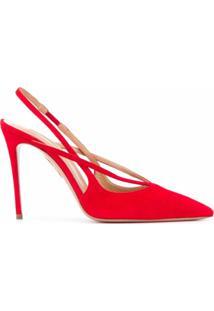 Aquazzura Sapato Soul Com Salto 105Mm - Vermelho
