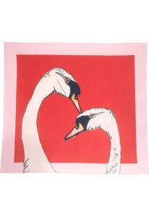 Lenço Cisne Vermelho - Vermelho