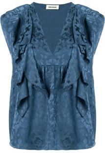 Zadig&Voltaire Blusa De Seda - Azul