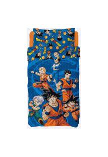 Colcha Infantil Dupla Face Estampa Dragon Ball Lepper