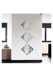 Espelho Decorativo Kit Ladrilho Quadrado Único
