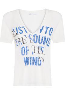Camiseta Feminina Linho Silk Sandra - Off White