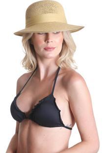 Chapéu Clássico Com Laço - Bege - Praaiah