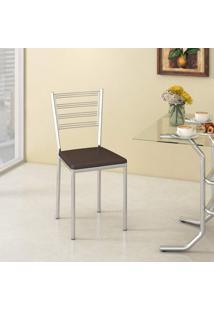 Cadeira Dallas Compoarte Marrom