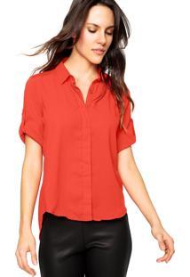 Camisa Manga Longa Malwee Lisa Vermelha