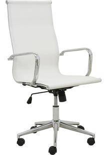 Cadeira Office Sevilha Alta Tela Branca Rivatti Móveis