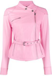 Pinko Belted Slim-Fit Jacket - Rosa