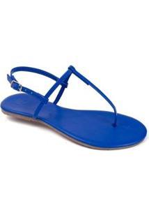 Rasteira Básica Mercedita Shoes Feminina - Feminino-Azul Escuro